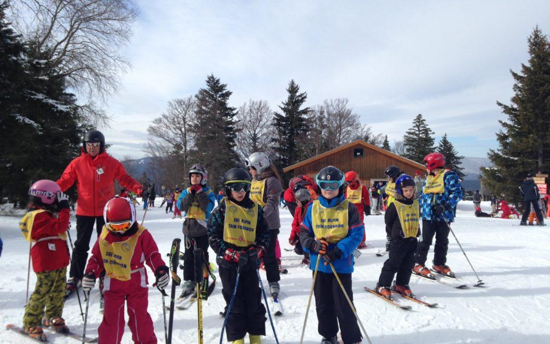 Retour des sorties de l'Ecole de ski