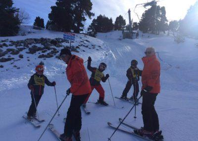 1ère sortie de l'école de ski à Lans