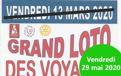 Report du Grand Loto des Voyages